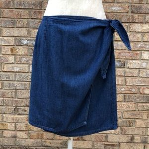 Woolrich denim wrap skirt, Sz XL, VGUC